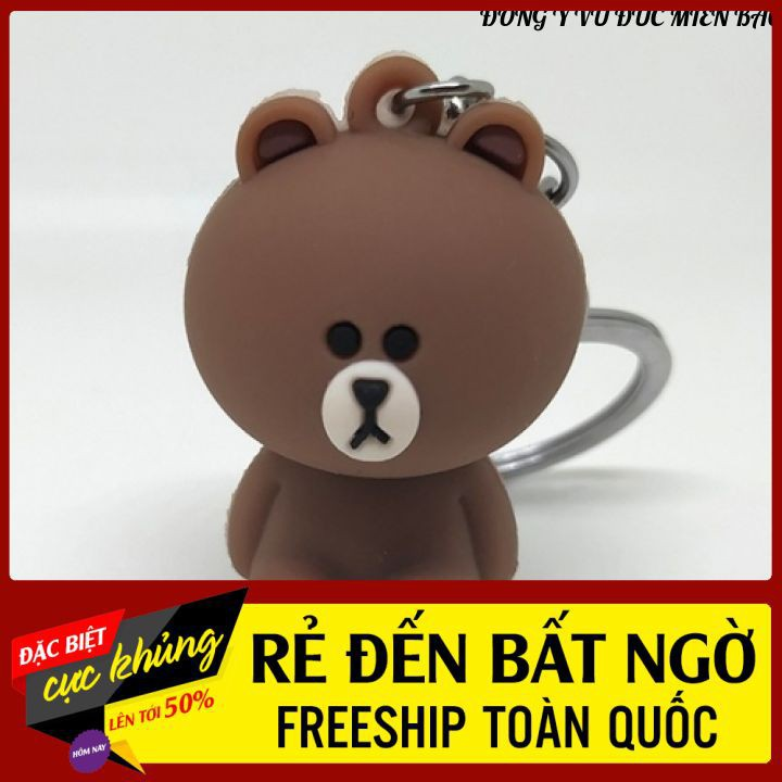 Móc Khóa Gấu Nâu ❤ Siêu KuTe ❤ Bền Rẻ Đẹp