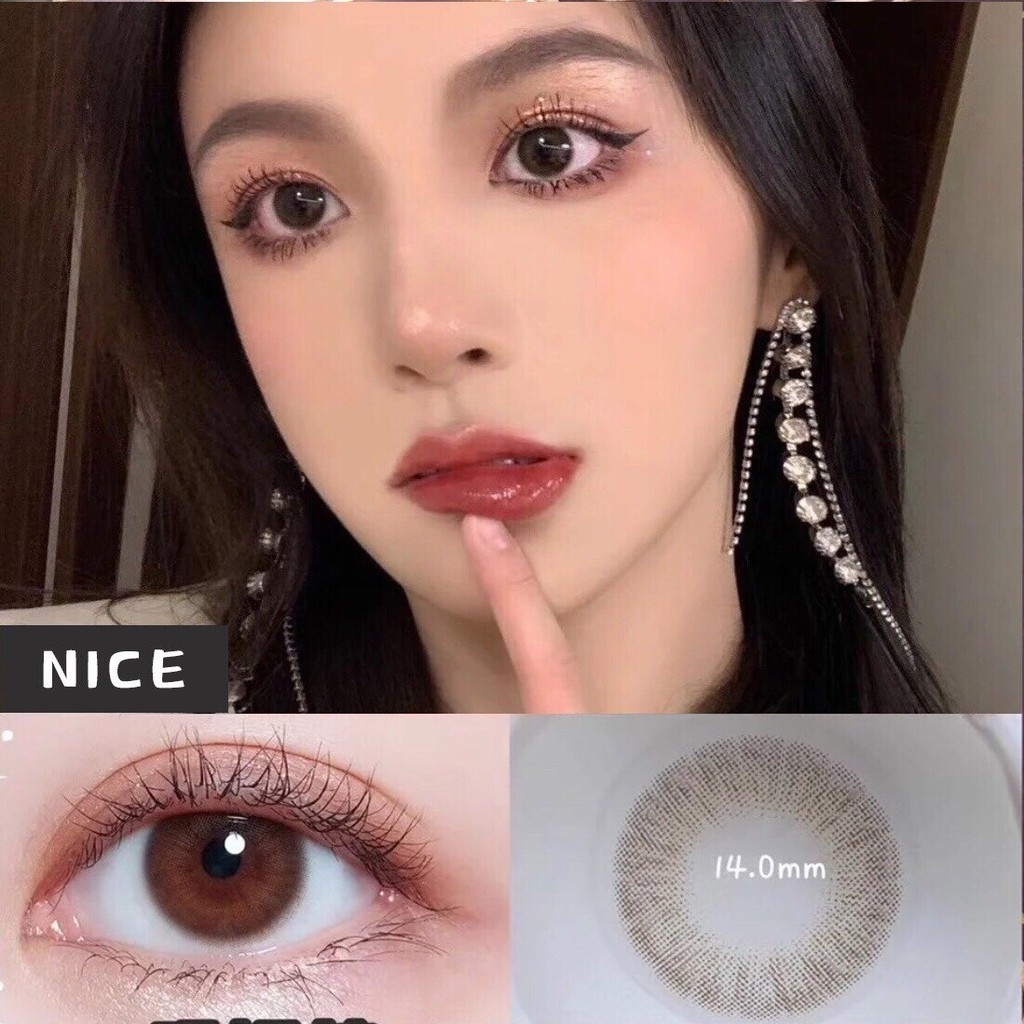 (1pair)(20.Aug.14)MYZONG Series,OVOLOOK Brand,14.0mm,(Grade0-8),Contact Lens yearly use(brown)