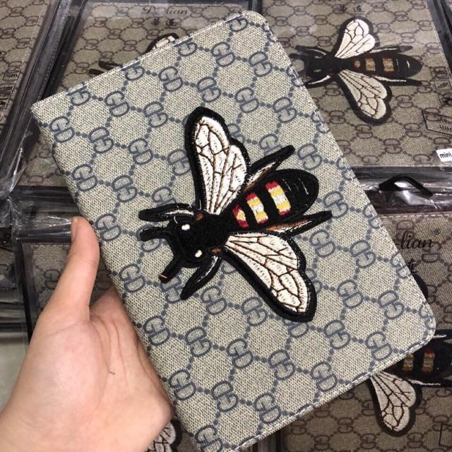 Bao da ipad mini1234 hình thêu vải sang trọng