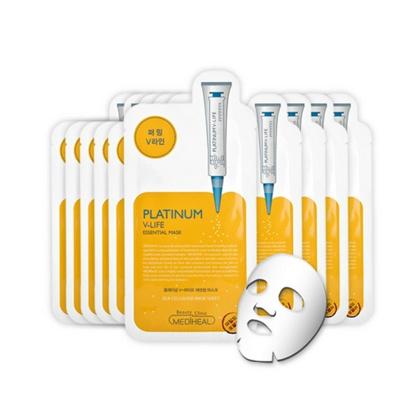 Bộ 10 Mặt Nạ Mediheal Platinum V-Life Essential Mask - 3574186 , 1225897134 , 322_1225897134 , 290000 , Bo-10-Mat-Na-Mediheal-Platinum-V-Life-Essential-Mask-322_1225897134 , shopee.vn , Bộ 10 Mặt Nạ Mediheal Platinum V-Life Essential Mask