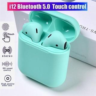 Tai nghe cảm ứng chạm không dây TWS i12 kết nối Bluetooth 5.0