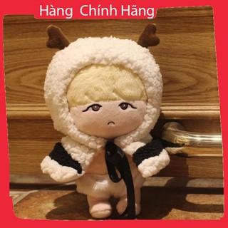 [Hỗ trợ giá] Áo choàng trắng (kèm sịp) cho doll 20cm_Đảm bảo chất lượng