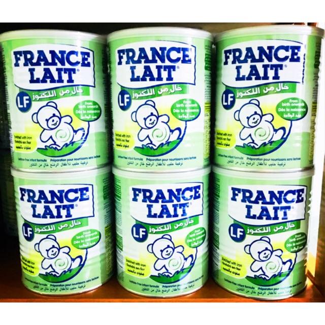 Sữa France Lait LF 400g- Dành cho trẻ tiêu chảy, không dung nạp lactose, rối loạn tiêu hóa- nhập khẩu nguyên lon từ Pháp