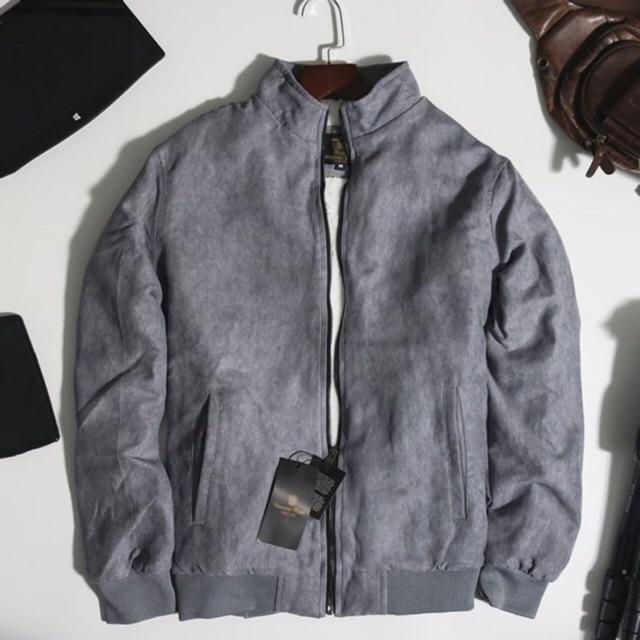Áo khoác Da lộn lịch lãm phong cách lót lông cừu