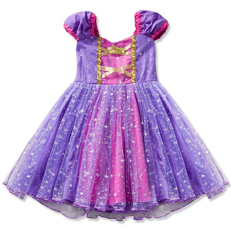 Đầm công chúa màu tím cho bé gái