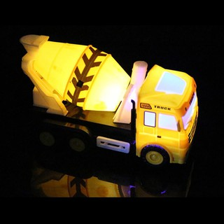JL_Mini LED Light Music Cement Truck Engineering Vehicle Car Intelligent Kids Toy