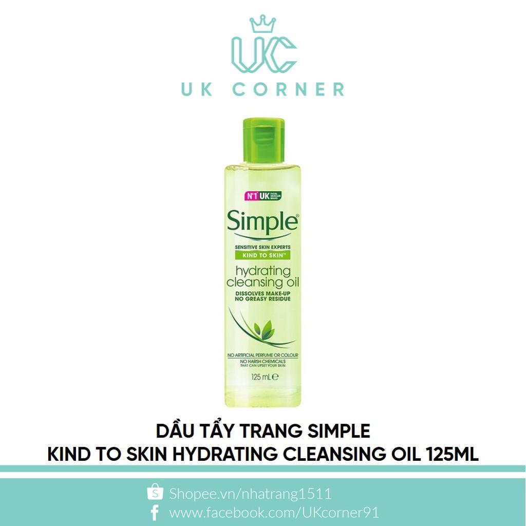 Dầu tẩy trang Simple Kind To Skin Hydrating Cleansing Oil 125ml - 2463217 , 91495932 , 322_91495932 , 215000 , Dau-tay-trang-Simple-Kind-To-Skin-Hydrating-Cleansing-Oil-125ml-322_91495932 , shopee.vn , Dầu tẩy trang Simple Kind To Skin Hydrating Cleansing Oil 125ml