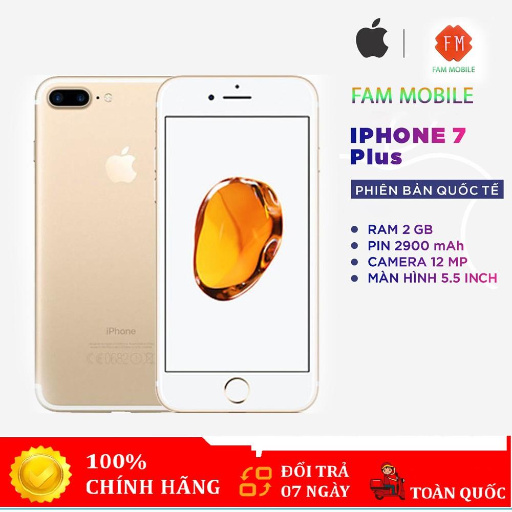Điện thoại iphone 7 plus 128gb Quốc Tế