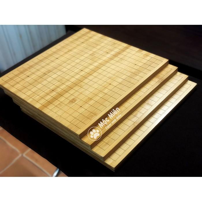 Bàn cờ vây gỗ tre dày 2cm 2 mặt 19×19 và 13×13