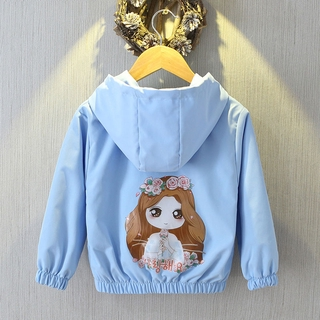 【Children's Outerwear】Korean Girl Coat Spring and Autumn Baby Cartoon Mouse Jacket