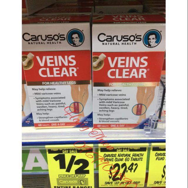 (Đủ bill) Suy giãn tĩnh mạch CARUSO's VEINS CLEAR _ 60verge
