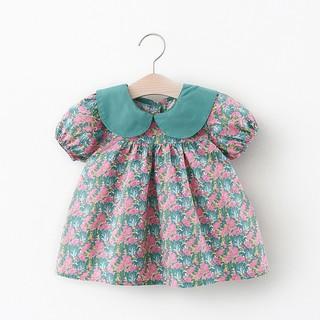 Váy bé gái tay phồng cổ sen Váy búp bê cho bé gái phong cách Hàn D761