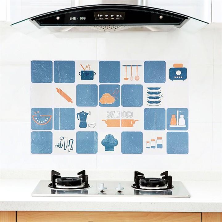 Giấy dán tường nhà bếp, miếng dán bếp chống bắn dầu mỡ, chịu nhiệt cao 2459 Giang Phạm