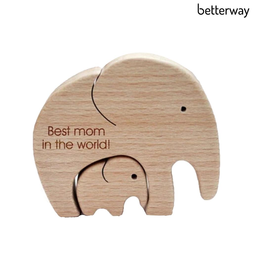 Khuôn Gỗ In Chữ Best Mom In The World Làm Phụ Kiện Trang Trí Bàn Làm Việc Cho Bé