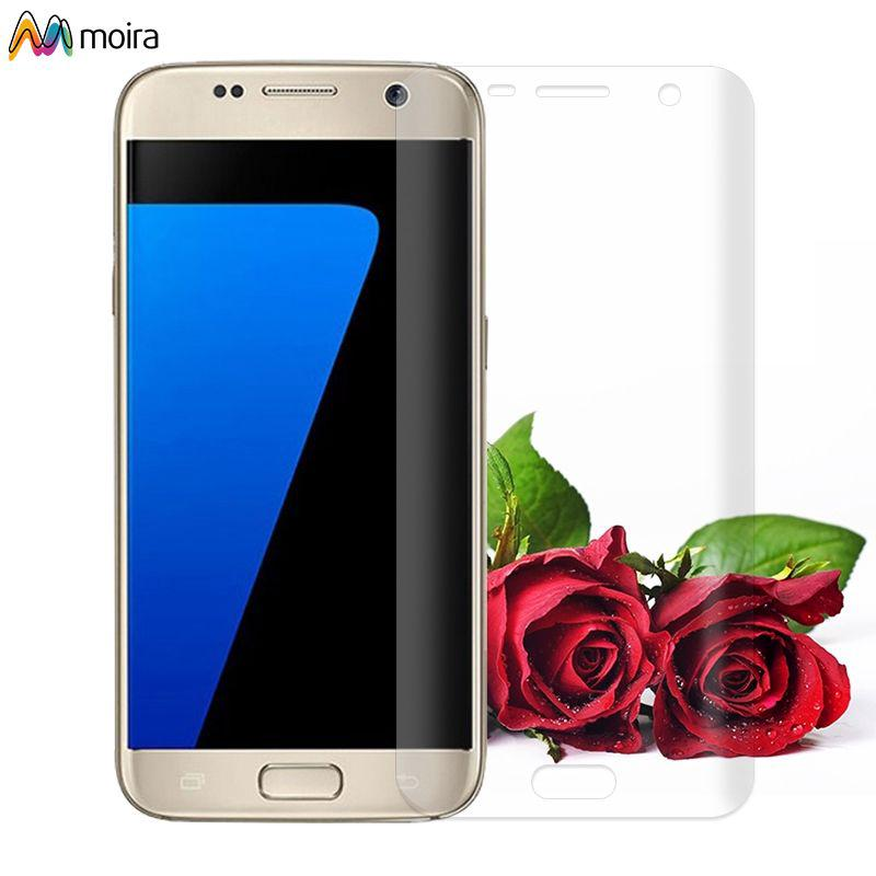 ☽ Front Screen Protector Film Full Body Cover For Samsung Galaxy S6 S7 / S7 edge Moira