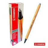 Hộp 10 cây bút lông kim STABILO Point 88 (Xám nhạt)