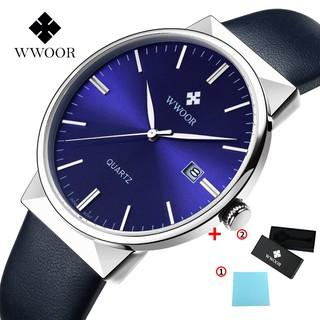 Đồng hồ đeo tay Quartz Wwoor Chống Thấm Nước Với Dây Đeo Da 8826p
