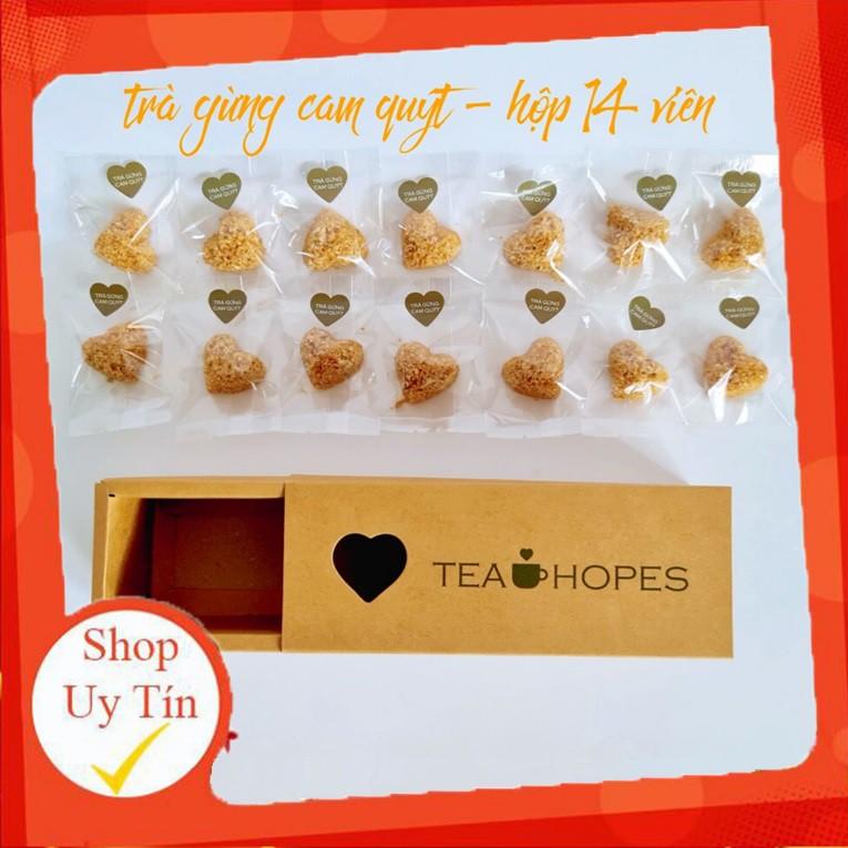 Hộp trà viên Tea Hopes - Vị gừng cam quýt - 190g