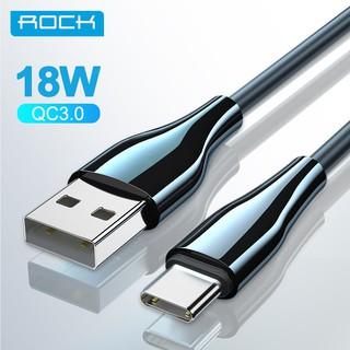 Cáp Sạc Nhanh ROCK Đầu Nối Usb Type C 9v2a Qc3.0 Cho Điện Thoại Huawei