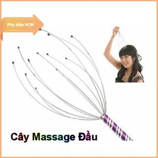 Dụng cụ Massage đầu – Cây gãi đầu – Chất liệu Inox cao cấp – Thiết kế đầu tua matxa thư giản – Ngăn rụng tóc