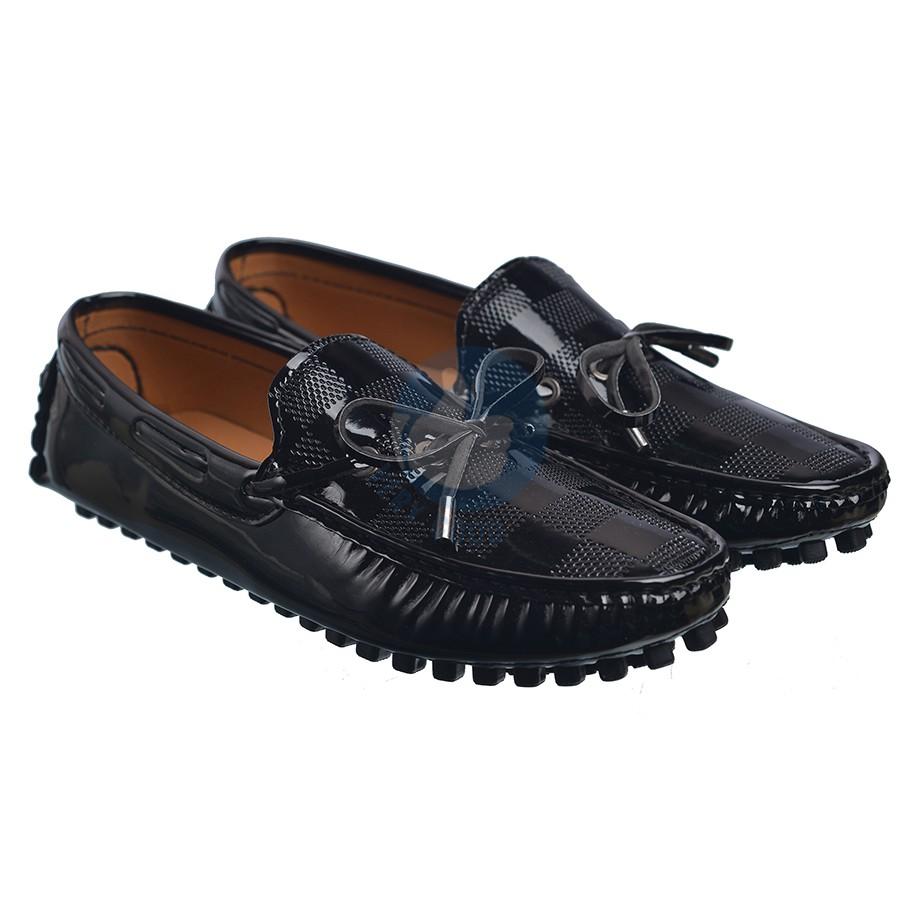 Giày lười nam verygood thắt dây MS1( màu đen bóng) Vrg1257- MS1-đen bóng