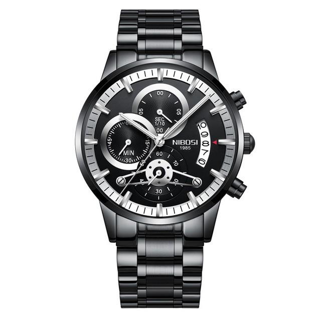 [Tặng vòng tay] Đồng hồ nam NIBOSI chính hãng NI2309-1.04 Fullbox dây đeo hợp kim cao