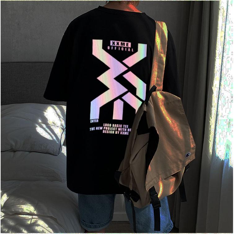 Áo Phản Quang Đa Sắc Dáng Rộng Unisex Nam Nữ Mã M1 Cực Chất Có Bigsize - áo thun tay lỡ form rộng streetwear