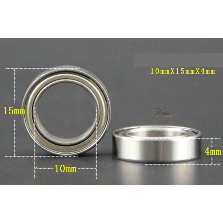 Bộ 4 vòng bi trục 10mm kích thước 10x15x4mm 6700Z