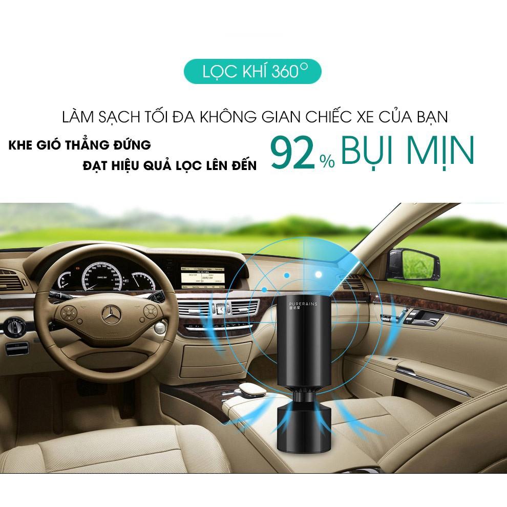 Máy lọc không khí trên ô tô PureRains, sang trọng, nhỏ gọn, không gây ồn, lọc hiệu quả các loại bụi, khí thải