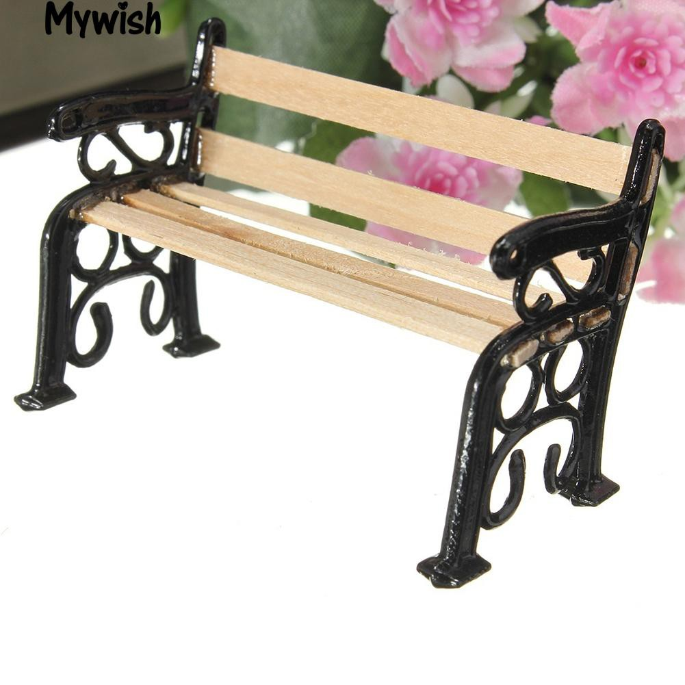 🏆Mini Outdoor Garden Ornament Miniature Park Bench Craft for New Toy