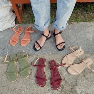 Fashionable Ulzzang Line belt Flat Sandals for Women
