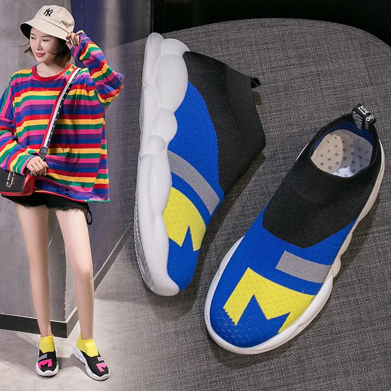 shopee คัดสรรยืดหยุ่นถุงเท้ารองเท้าหญิง 2019 ฤดูใบไม้ผลิและฤดูร้อนใหม่เกาหลี