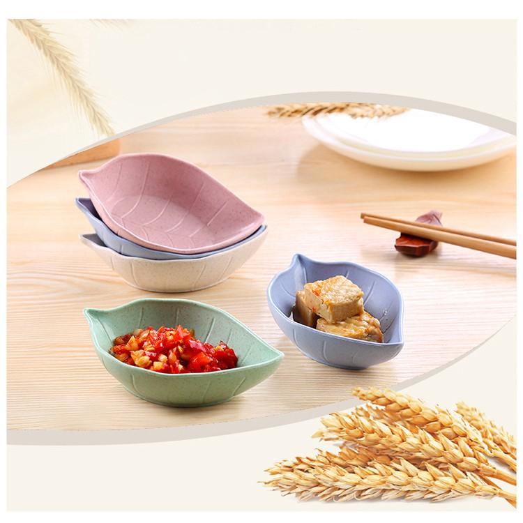 Bát ăn dặm lúa mạch kiểu Nhật mini hình hoa lá xinh xắn dễ thương AD06