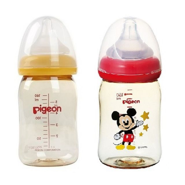 Bình sữa Pigeon cổ rộng nhựa PPSU Plus 160ml BS043