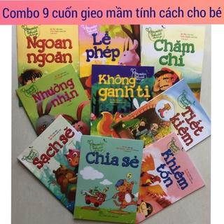 Sét 9 cuốn Gieo Mầm Tính Cách Cho Bé Yêu. Quà tặng cho bé yêu phát triển toàn diện