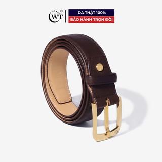 Thắt Lưng Nam Da Bò Cao Cấp Mặt Khóa Tungsten Màu Nâu, Màu Đen WT Leather 129011501, 129011502 thumbnail