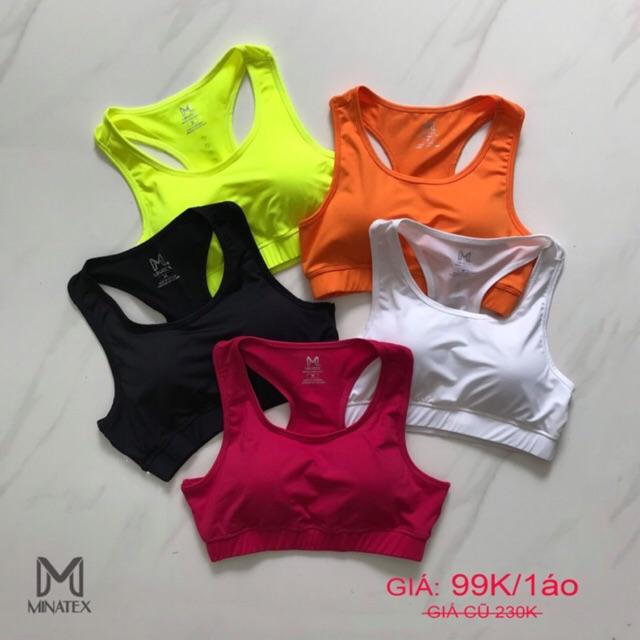 Áo Bra Tập Gym Yoga Earobic Minatex