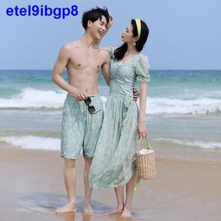 Cặp đôi Áo tắm Nữ mùa hè 2021 mới bảo thủ một mảnh mạng che mặt hai siêu tiên trong sexy thời trang quần đi biển nam thumbnail
