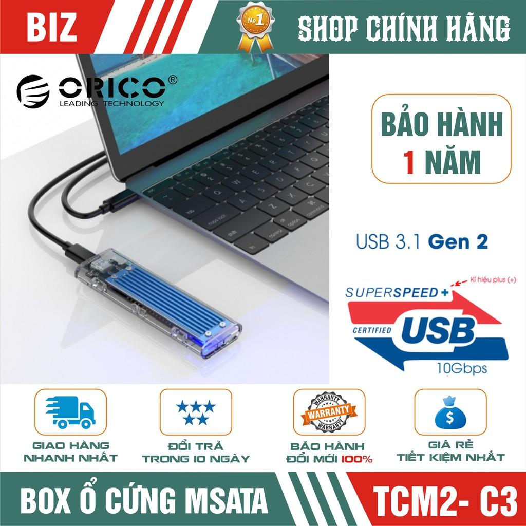 Box ổ cứng BOX MSata ORICO TCM2-C3 – kết nối USB 3.1 – tản nhiệt nhôm – chính hãng bảo hành 12 tháng! Giá chỉ 579.000₫