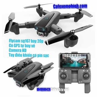 Flycam s168 GPS camera Hd gấp gọn có tự bay về