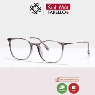 Gọng kính cận nữ FARELLO mắt vuông bo tròn chất liệu nhựa càng kính thanh mảnh nhẹ nhàng màu sắc thời trang 1889