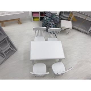 Bộ bàn ghế trang trí nhà búp bê. Bàn ghế ăn mini cho búp bê. Bàn ghế mini tỉ lệ 1/12. Mô hình bàn ghế gỗ