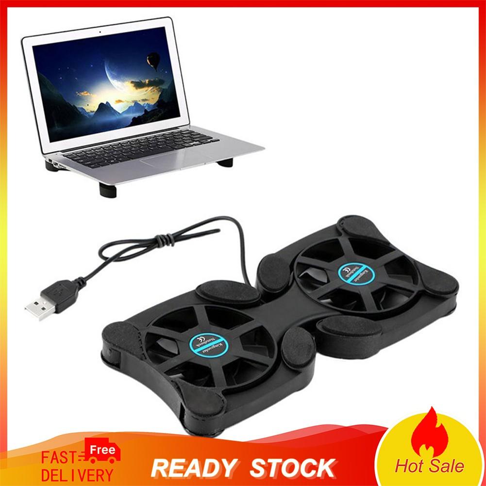 Quạt tản nhiệt làm mát kiêm giá đỡ laptop sạc bằng cổng USB có thể gấp lại tiện lợi