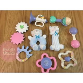 [ sale sát sàn] Set 7- 9 món đồ chơi sơ sinh cao cấp GORYEO BABY – mới 100% , Bể/ móp hộp nhựa