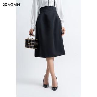 Chân váy nữ 20AGAIN đủ màu, đủ size, dài tới gối cạp cao JXA1243 thumbnail