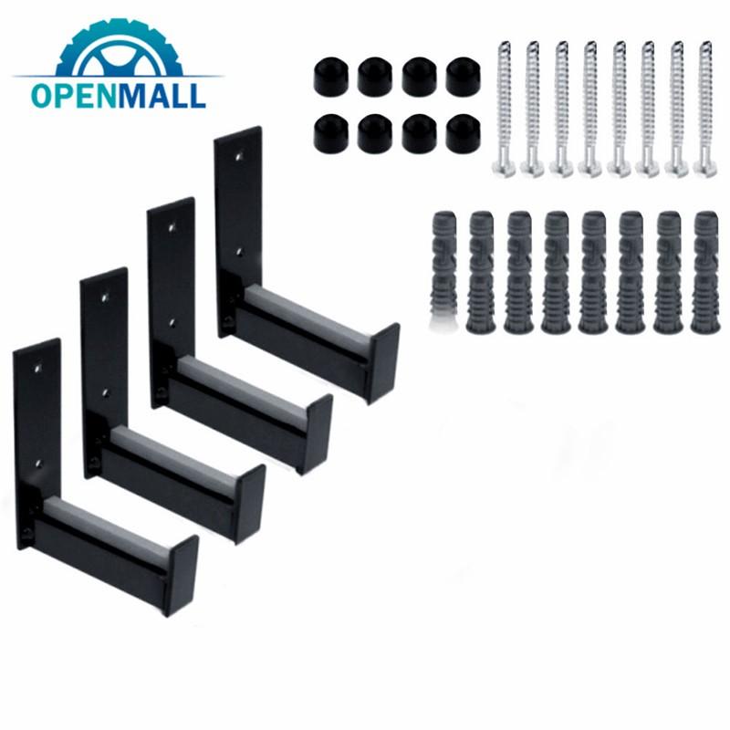 OM Wheel Hangers Hooks Set Wall Mount Tire Rack Alternative Pack of 4 Heavy Duty Garage Organizer