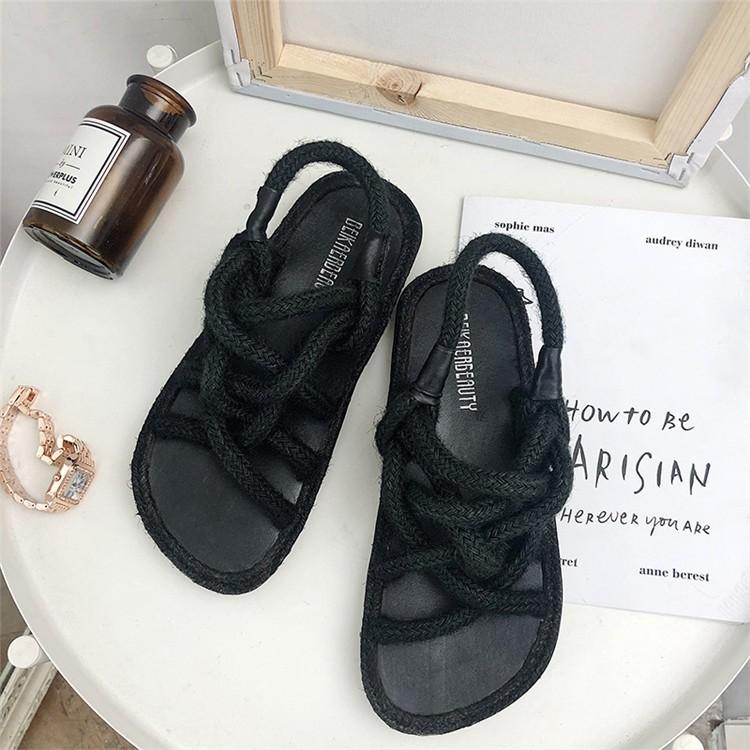 giày sandals nữ quai ngang xinh xắn