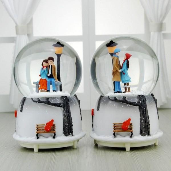 Quà lưu niệm quả cầu tuyết cặp đôi mùa đông - Quà sinh nhật tặng bạn trai, bạn gái - [ MIỄN PHÍ GÓI QUÀ - TẶNG THIỆP ]