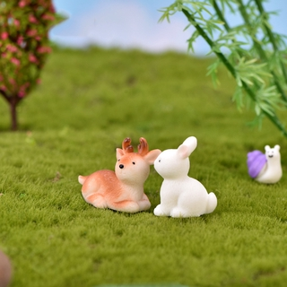 Tượng resin hình động vật mini dùng trang trí tiểu cảnh DIY 7