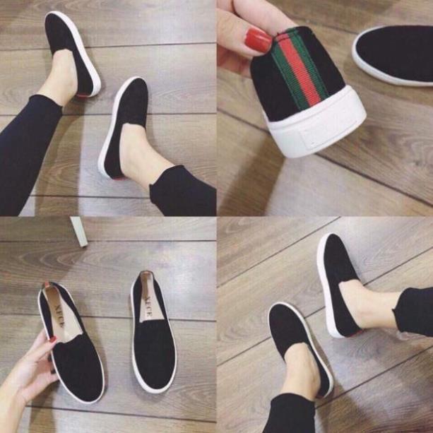 Giày Slipon Trơn gót Viền đi học